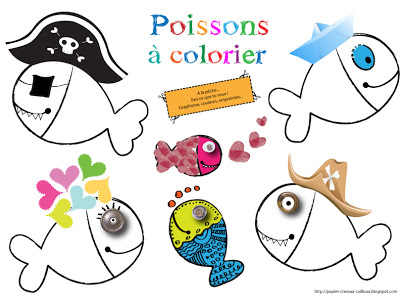 Printable Coloriages Poissons D Avril Creamalice