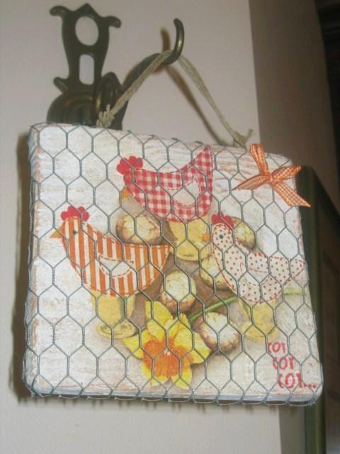 diy cadre grillagé poules Pâques