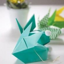 diy guirlande lapins Pâques origami