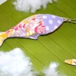 diy porte-clé poisson tissu