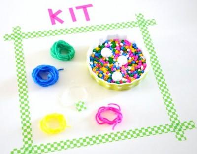 kit créatif Créamalice Colliers Perles & Pompons1