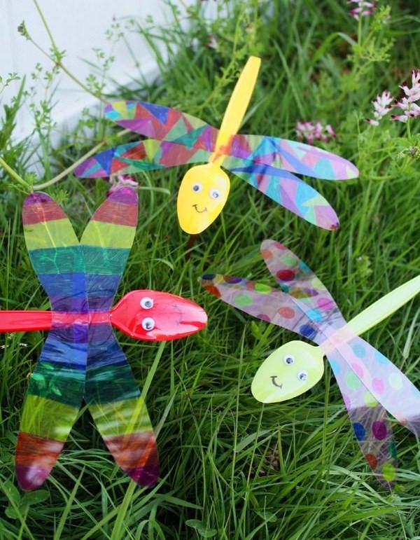 Bricolage libellule maternelle - Pinterest bricolage recup ...