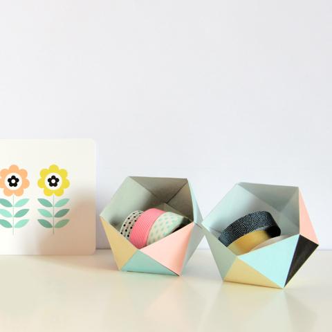 diy petite boîte géométrique à imprimer gratuitement1