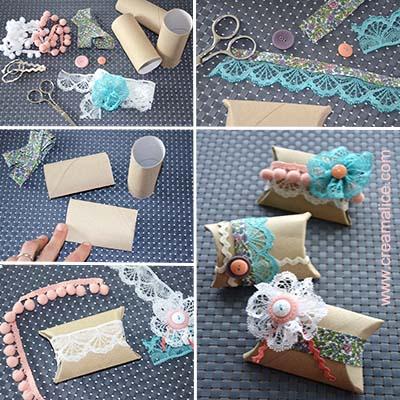 diy petites bo tes cadeaux r cup r alis es avec de. Black Bedroom Furniture Sets. Home Design Ideas