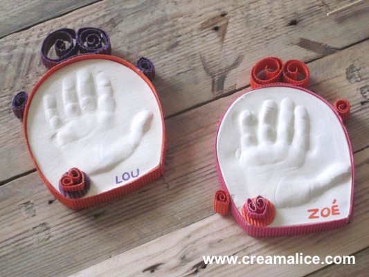 Empreinte main enfant 3d creamalice do it yourself - Moulage main platre ...