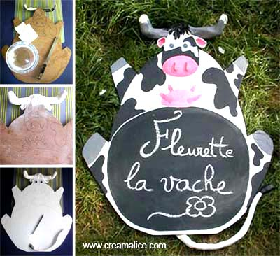 diy tableau m mo ardoise vache. Black Bedroom Furniture Sets. Home Design Ideas