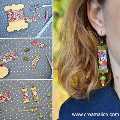 diy boucles d oreilles liberty bijoux co teux. Black Bedroom Furniture Sets. Home Design Ideas