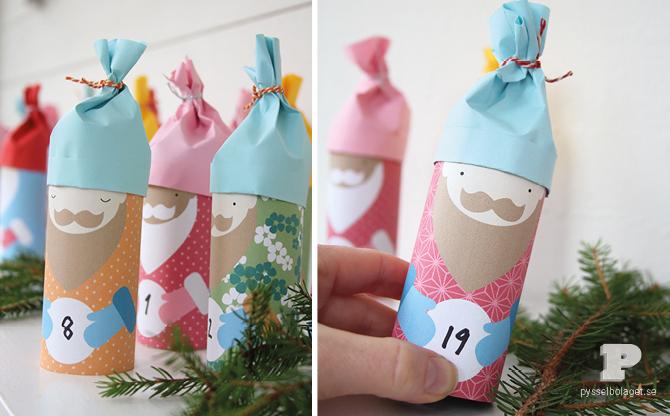 diy-calendrier-avent-rouleaux-carton-peres-Noel