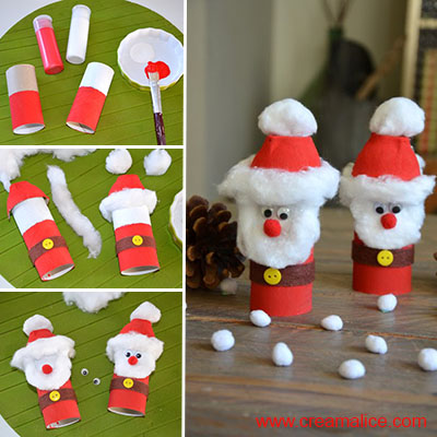 Diy p re no l version r cup en rouleau de carton for Decoration de noel en rouleau papier toilette