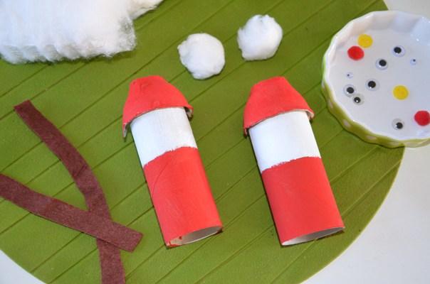 Pere noel a fabriquer avec rouleau papier toilette 28 - Pere noel rouleau papier wc ...