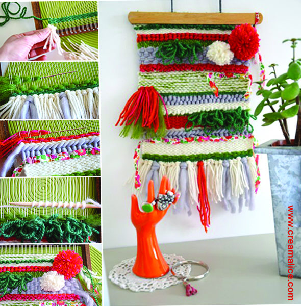 Diy tissage mural d co for Tendance decoration murale 2015