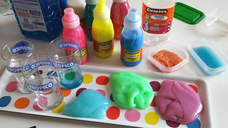 recette diy pour faire du slime avec les kids. Black Bedroom Furniture Sets. Home Design Ideas