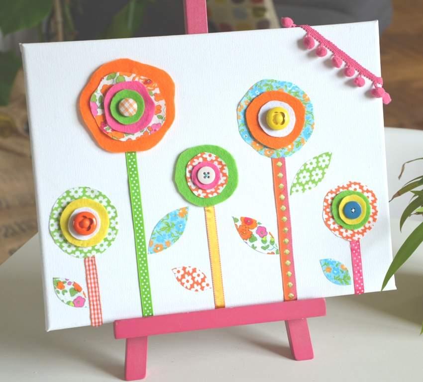 Tableau-Deco-fleurs-tissu-Shop-Creamalice-Creations