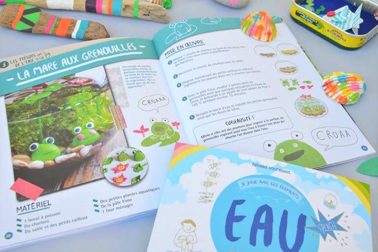 """Livre """"Je joue avec les éléments: Eau - 24 activités manuelles & créatives"""" à partir de 6 ans - Tiphaine Voutyrakis - éditions Rusti'Kid"""