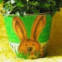 loisir créatif serviettage pour Pâques