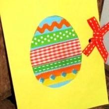 loisir créatif carte oeufs Pâques avec des rubans