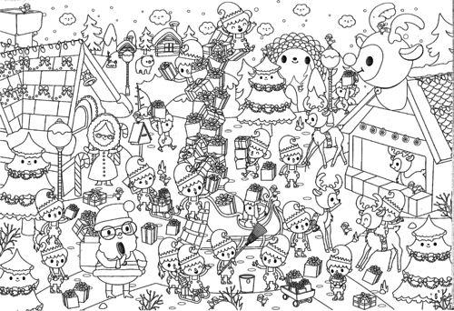Printable Coloriages De Noel Pour Les Kids