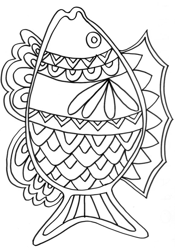 coloriages poissons avril