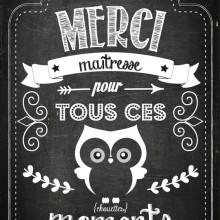 {Printable} Carte Merci Maîtresse - Créamalice
