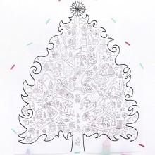 Printable Coloriage Sapin De Noel Geant Creamalice
